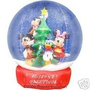 MICKEY & FRIENDS 7FT. AIRBLOWN INFLATABLE SNOWGLOBE