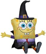 Airblown inflatable Spongebob as witch