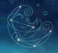 Arte de constelación Aphros Delos