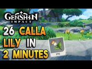 【Genshin Impact】Calla Lily Locations - Fast and Efficient - Ascension Materials