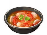 Sopa vegetariana de rábano