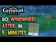 【Genshin Impact】Windwheel Aster Locations - Fast and Efficient - Ascension Materials