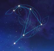 Arte de constelación Monocerus Caeli