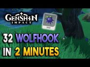 【Genshin Impact】Wolfhook Locations - Fast and Efficient - Ascension Materials