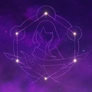Arte de constelación Imperatrix Umbrosa