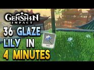 【Genshin Impact】Glaze Lily Locations - Fast and Efficient - Ascension Materials
