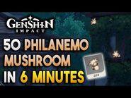 【Genshin Impact】Philanemo Mushroom Locations - Fast and Efficient - Ascension Materials