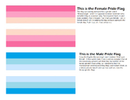 Yeah, uh. Binary pride flags!