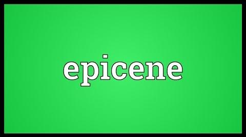 Epicene_Meaning
