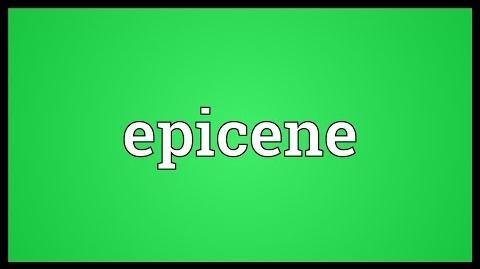 Epicene