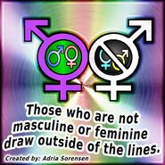 Outide of the lines masculine feminine