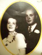 Ray and Joyce Baker wedding 1954