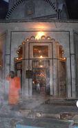 Steam from Manikaran baths, 2004