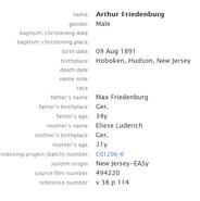 Freudenberg-Arthur 1891 birth