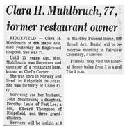Klara Helene Shultz (1895-1973) obituary in The Record of Hackensack, New Jersey on February 2, 1973.png