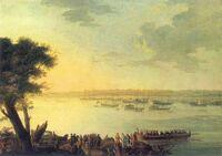 Plersch-Odjazd Katarzyny II z Kaniowa w 1787 roku
