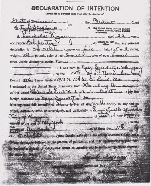 Leopold Kozeny Declaration of Intention.jpg