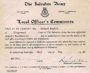 1949 - Edward William Burgess Baglin (1906-1969) Salvation Army Commissioned Deputy Bandmaster