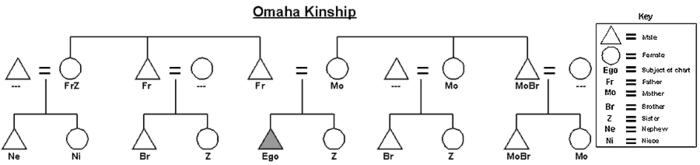 Graphic of the Omaha kinship system