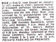 Eva Rice Obituary