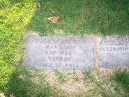 Eddie August Schneider, family grave at Fairview Cemetery 100 0914