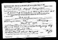 U.S. World War II Draft Registration Card 1942 for Emil August Schneider