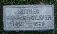 Barbara Rhodes Weaver Tombstone