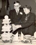 Silver Wedding 1956 - Edward William Burgess Baglin and Florence Eveline Jenner