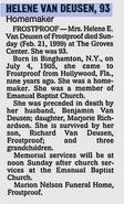 Helene Elizabeth Bentley obituary