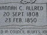 Hannah Caroline Allred (1808-1850)