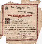 1929 - Edward William Burgess Baglin (1906-1969) Salvation Army Commissioned Organist