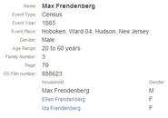 Freudenberg-Max 1885 census