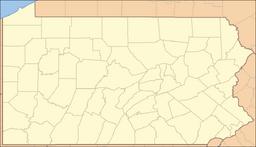 Location of Whitehall in Pennsylvania