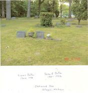 Cyrus and Jane (Jeremy) Butler memorial stones