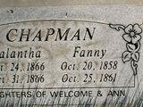 Fannie Chapman (1858-1861)
