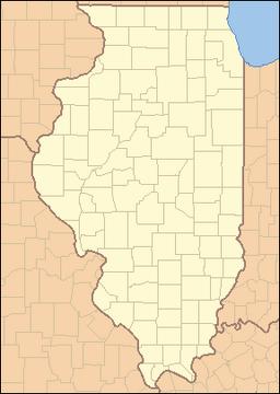 Location of Springfield within Illinois.