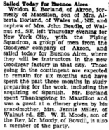 Weldon Earl Borland (1906-2002) and Lizzie Alberta Miller (1875-1975) Borland in the Evening Independent of Massillon, Ohio on 29 November 1930