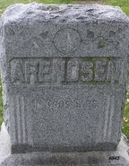 Aalt and Jennie Arendsen family stone
