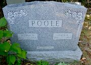 Tombstone of Alfred William Poole (1881-1959) and Julia Ann Lattin (1880-1960) at Powell Cemetery.jpg