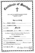 Norton Burke 1950 marriage