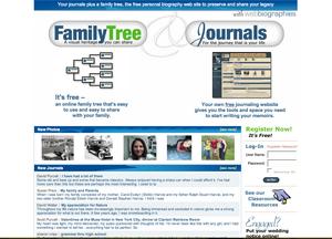 Screenshot of WebBiographies' Main Page