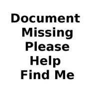 Document missing
