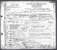 Death Certificate Jonas August Larson