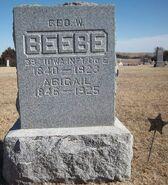 Beebe-George tombstone
