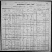 Isaac and Fanny Jeremy 1900 census