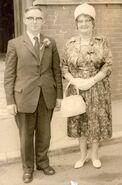Ted & Eva at a wedding