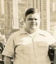 Carl Tandberg Milner (1915-1999) with skyscrapers.jpg