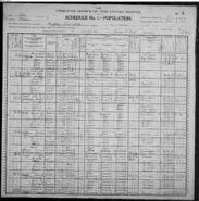 Cyrus Elmer Butler 1900 census entry