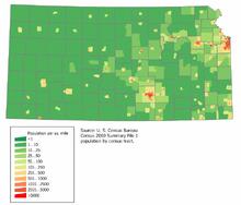 Kansas population map