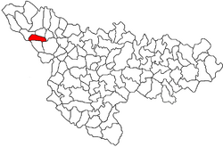 Location of Gottlob in Timiș County